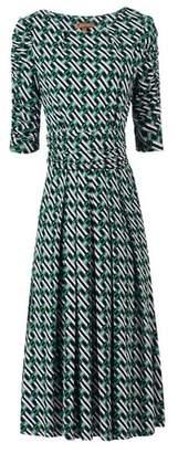 Dorothy Perkins Womens *Jolie Moi Green Geometric Print Viscose Midi Skater Dress, Green