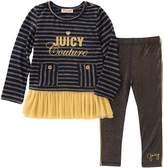 Juicy Couture Striped Dress & Leggings Set