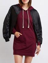Charlotte Russe Hooded Sweatshirt Dress