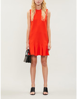 Victoria Victoria Beckham Ruffle-hem stretch-ponte mini dress
