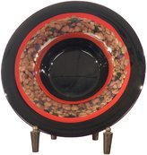 Dale Tiffany Lamps PG60110 Ebony Decorative Charger Plate with Stand, 15-Inch Diameter
