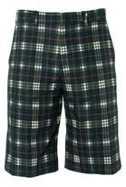 Givenchy Mens 100% Cotton Black Plaid Board Shorts.