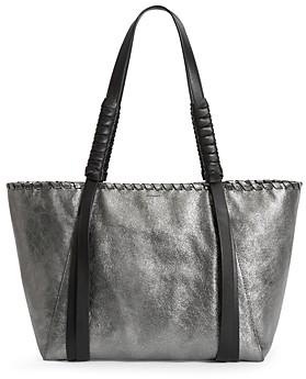 AllSaints Miki Small Metallic Leather Tote