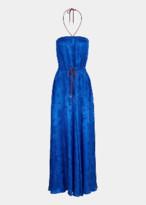 Essentiel Cobalt Blue Floral Print Jacquard Maxi Dress - 34 | cobalt blue