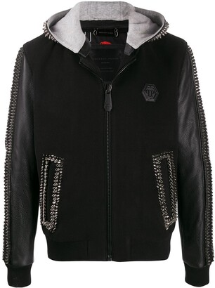 Philipp Plein Studded Hooded Jacket