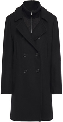 DKNY Double-breasted Wool-blend Twill Coat