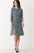 J. Jill Wearever Printed 3/4-Sleeve Dress