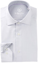 Bugatchi Trim Fit Woven Stripe Dress Shirt
