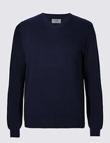 M&s Collection Pure Cotton V-neck Jumper