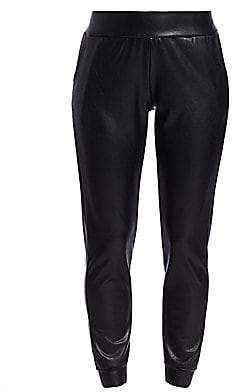 Commando Women's Faux Leather Joggers