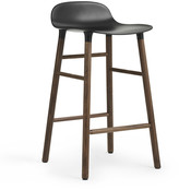 Normann Copenhagen Form Barstool - Walnut - Black