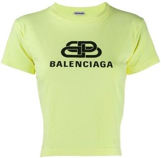 Balenciaga cropped logo T-shirt
