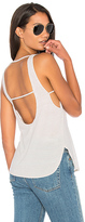 Lanston Scoop Muscle Tank in Beige. - size S (also in XS)