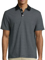 Claiborne Short-Sleeve Slim-Fit Stripe Polo