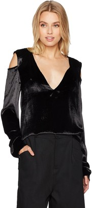 Baja East Women's Cold Shoulder Top