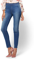 New York & Co. Soho Jeans - High-Waist Pull-On Legging - Laguna Blue Wash - Petite