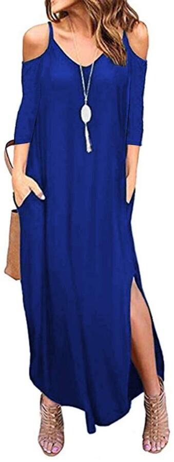 UK Womens Bardot Off Shoulder Floral Dress Ladies Summer Beach Party Split Dress