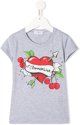 MonnaLisa graphic print relaxed-fit T-shirt