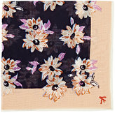 Isaia Men's Floral-Print Cotton-Silk Pocket Square