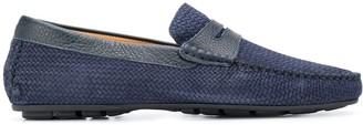 Corneliani Textured Almond-Toe Loafers