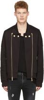 Pierre Balmain Black Convertible Zip-up Sweater