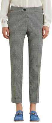 Etro Printed Knit Cuffed Capri Pants