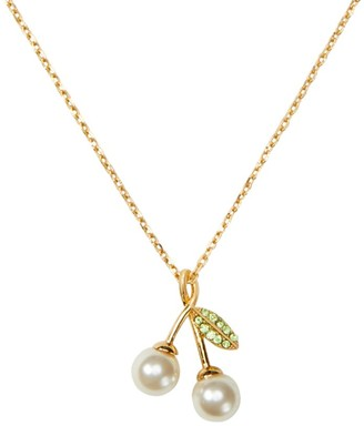 Kate Spade Crystal Cherry Pendant Necklace