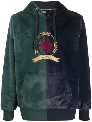 Tommy Hilfiger Faux-Fur Crest Embroidery Hoodie