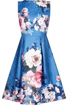 Yumi Placement Flower Dress