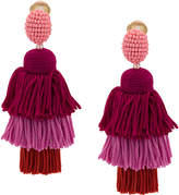 Oscar de la Renta long tasseled earrings
