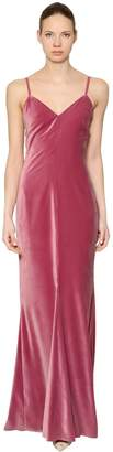 Max Mara Velvet Long Dress