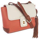 Isaac Mizrahi Live! Bridgehampton Leather Color-Block Bag