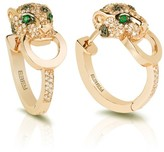 Effy Jewelry Signature Yellow Gold Diamond and Emerald Earrings
