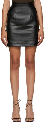 MATÉRIEL Black Faux-Leather Miniskirt