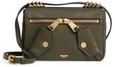 Moschino Grainy-B Leather Crossbody Bag - Green