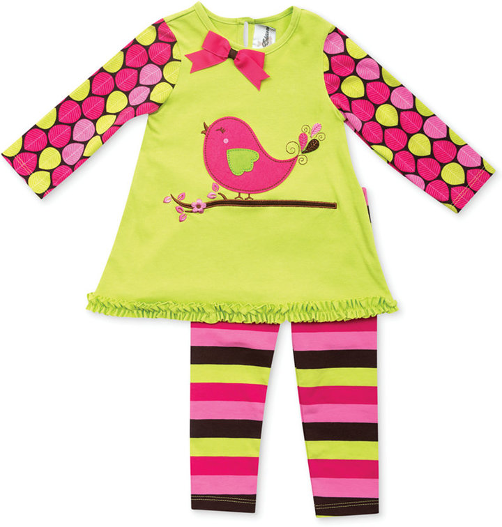 Rare Editions Baby Girls' 2-Piece Top & Leggings Set