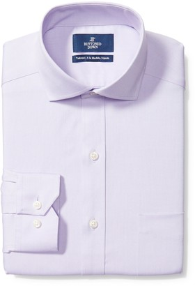 "Buttoned Down Tailored Fit Cutaway-collar Solid Non-iron Dress Shirt Purple/Pockets) 16"" Neck 37"" Sleeve"
