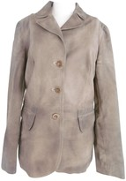 Miu Miu Khaki Leather Jacket for Women
