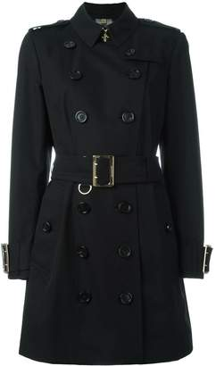Burberry Cotton Gabardine trench coat with oversize buckle detail
