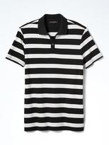 Banana Republic Slim Luxury-Touch Wide-Stripe Polo