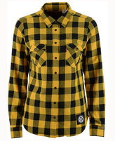 Levi's Women's Pittsburgh Steelers Plaid Button-Up Woven Shirt