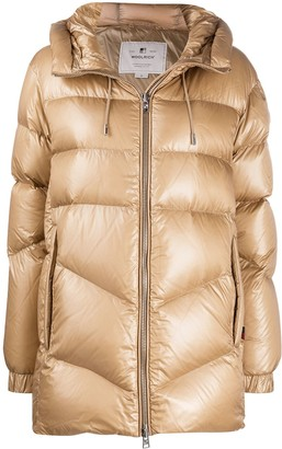 Woolrich Metallic Padded Coat
