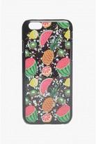 Select Fashion Fashion Womens Black Glitter Tropical Fruit Iphone 6 Case - size One