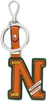 Prada N letter keyring