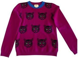 Gucci Purple Wool Knitwear