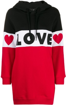 Love Moschino Colour Blocked Oversized Hoodie