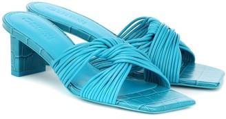 Mercedes Castillo Calisse croc-effect leather sandals