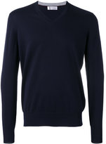 Brunello Cucinelli v-neck sweater - men - Cotton - 50