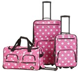 Rockland Spectra 3pc. Expandable Rolling Luggage Set - Pink Dot