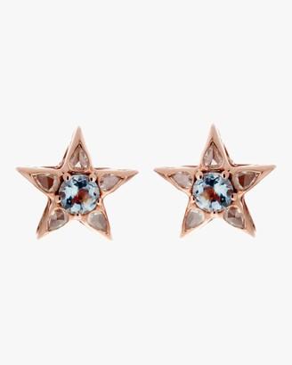 Selim Mouzannar Diamond and Aquamarine Earrings